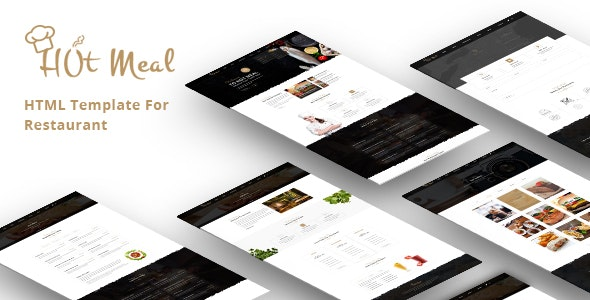 Hot-meal Restaurant and Food Corner Html Template - Restaurants & Cafes Entertainment