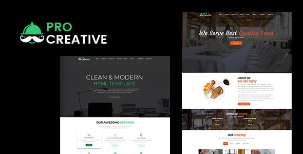 Pro Creative  - Responsive multipurpose HTML Template - Creative Site Templates