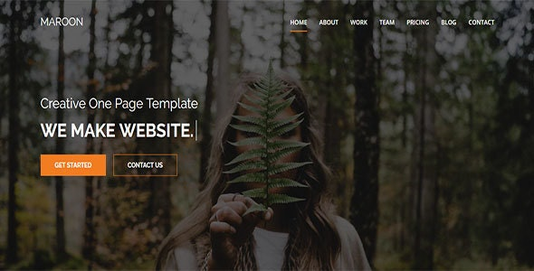Maroon One Page Multi Purpose HTML5 Template - Creative Site Templates