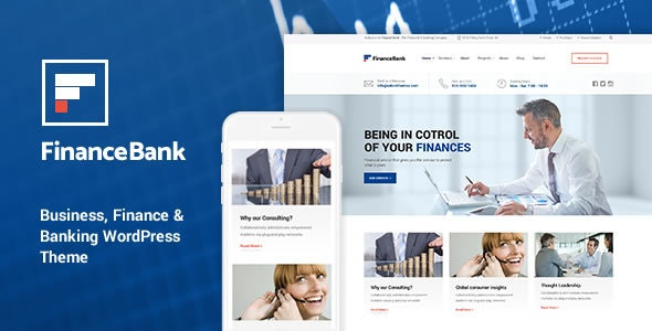 FinanceBank - Business Consulting WordPress Themes - Business Corporate