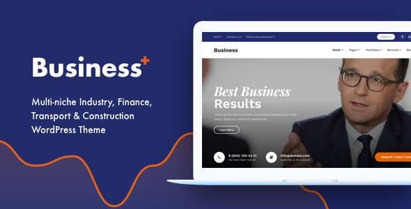 Business Plus - Multi-niche Industry, Finance, Transport & Construction WordPress Theme - Business Corporate