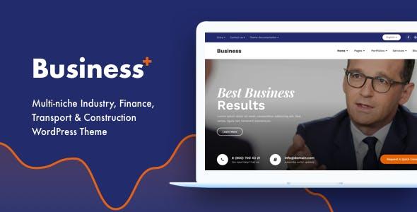 Business Plus - Multi-niche Industry, Finance, Transport & Construction WordPress Theme