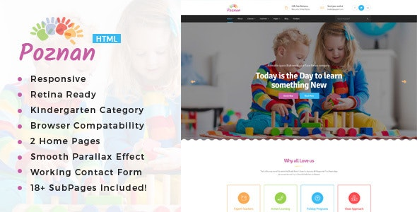 Poznan - Kindergarten & School HTML Template - Children Retail