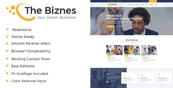 The Business - Business Consulting and Professional Services HTML Template - Business Corporate