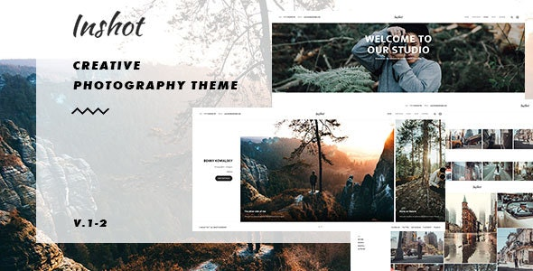 Inshot - Creative Responsive Photography Portfolio WordPress Theme - Photography Creative