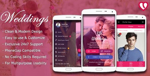 Weddings - Mobile Web App Kit - Mobile Site Templates