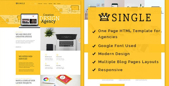 Single HTML Template - Creative Site Templates
