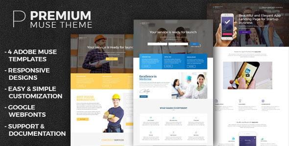 Premium- Multipurpose Muse Templates - Landing Muse Templates
