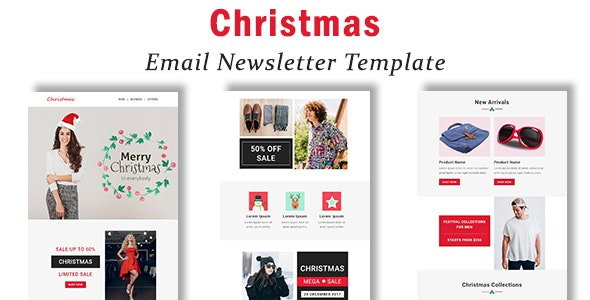 Christmas - Responsive Email Template with Stampready Builder Access - Newsletters Email Templates