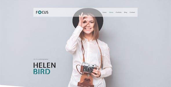 Focus — Photographer portfolio PSD Template