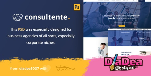 Consultente - Corporate Business & Agency PSD Template - Business Corporate