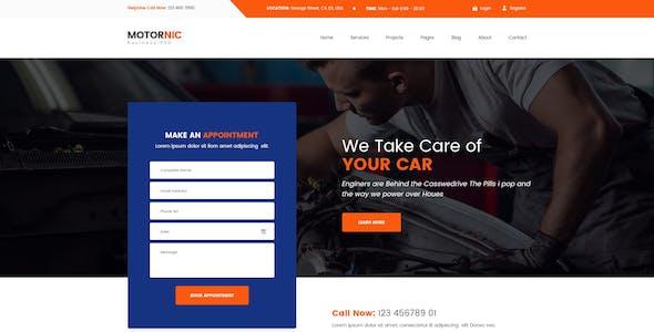 MotorNic - Vehicle Marketplace PSD Template
