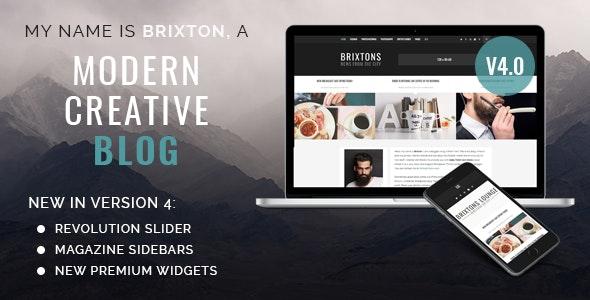 Brixton - A Responsive WordPress Blog Theme - Personal Blog / Magazine