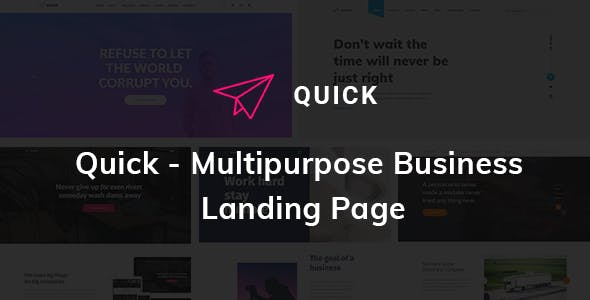 Quick - Multipurpose Business Landing Page HTML5 Template