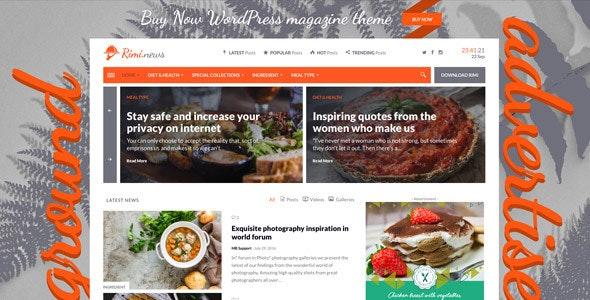 Rimi - WordPress Theme for Food Blog and Magazine - News / Editorial Blog / Magazine