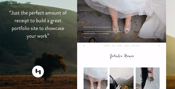 Renee: Portfolio Theme With Sideblog Enabled - Blogger Blogging