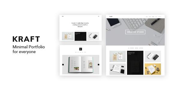 Kraft - Minimal Portfolio WordPress Theme - Portfolio Creative