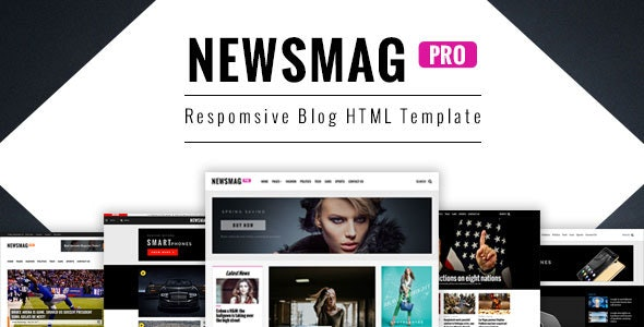 NewsMag Responsive Magazine HTML Template - Corporate Site Templates