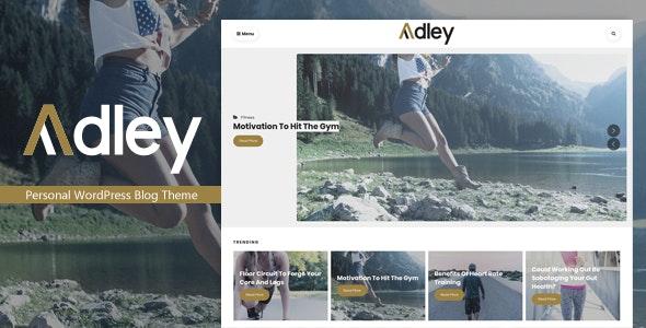 Adley - Personal WordPress Blog Theme - Blog / Magazine WordPress