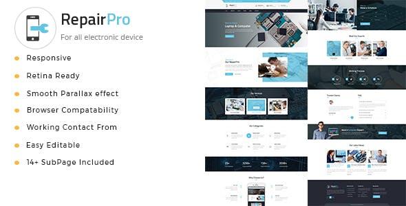 Repair Pro - Computer, Mobile, Electronics and Phone Repair HTML Template
