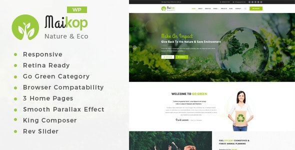 Maikop - Environment WordPress Theme - Environmental Nonprofit