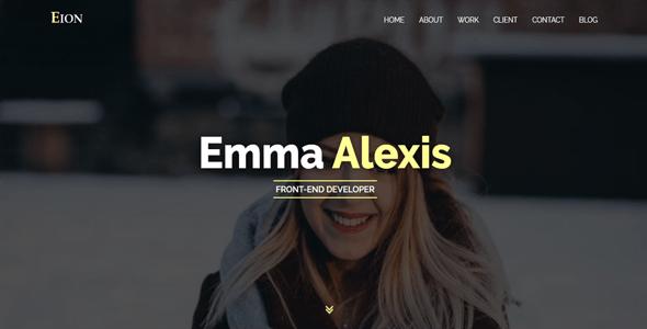 Eion-Personal Portfolio HTML Template - Portfolio Creative