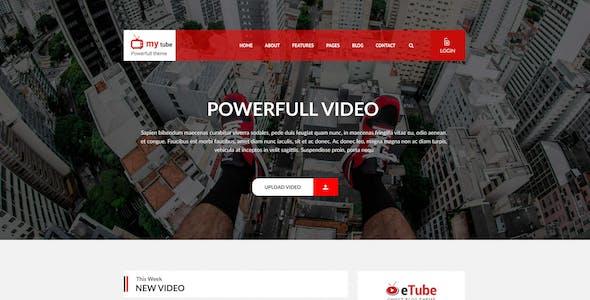 Mytube - Video Blog Site PSD Template
