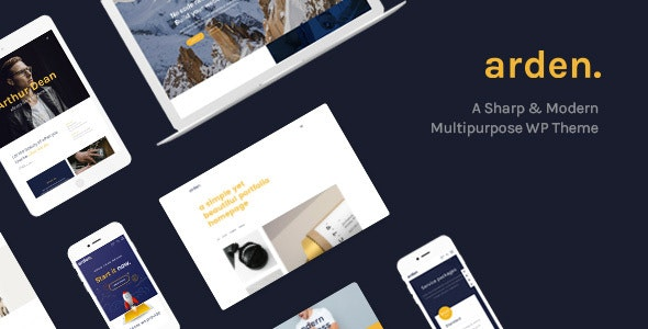 Arden - Agency Business Corporation WordPress Theme - Portfolio Creative