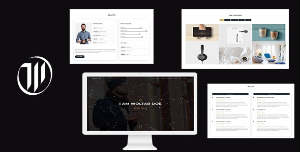 Woltar - Personal One Page Template - Personal Site Templates