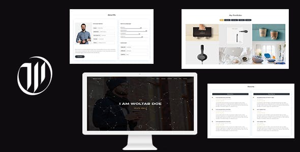 Woltar - Personal One Page Template