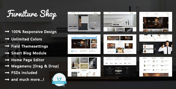 Furniture Shop - Interior Design PrestaShop 1.7 Theme