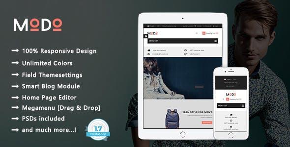 Modo - Clean Fashion & Clothes Responsive PrestaShop 1.7 Theme