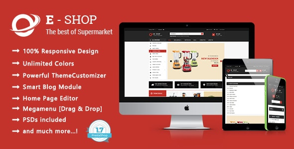 Eshop - Shopping Houseware & Electronics Responsive PrestaShop 1.7 Theme - Shopping PrestaShop