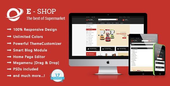 Eshop - Shopping Houseware & Electronics Responsive PrestaShop 1.7 Theme