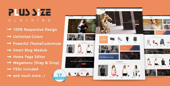 Plus Size - Clothes Fashion Shop Responsive PrestaShop 1.7 Theme