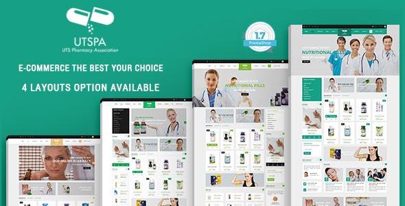 Medicine - Pharmacy & Drug Store Responsive PrestaShop 1.7 Theme