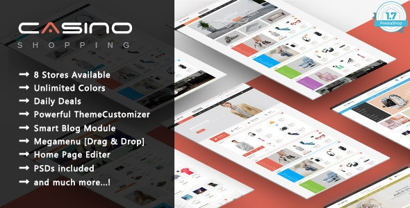Casino - Minimal Shopping Responsive PrestaShop 1.7 Theme - Shopping PrestaShop