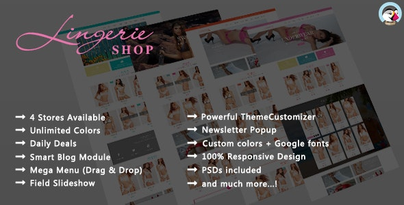 Lingerie Shop - Women Underwear Responsive PrestaShop Theme - Fashion PrestaShop