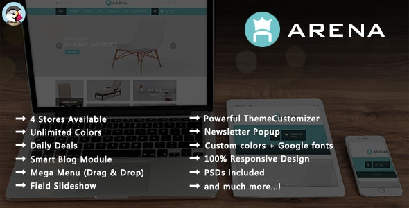 Arena - Modern Furniture Responsive PrestaShop Theme - Shopping PrestaShop