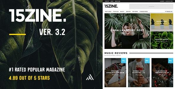 15Zine - HD Magazine / Newspaper WordPress Theme - News / Editorial Blog / Magazine