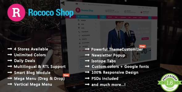 Rococo - Shopping & Accessories Responsive PrestaShop Theme - Shopping PrestaShop
