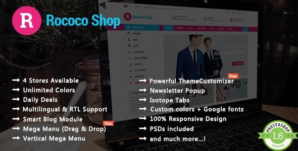 Rococo - Shopping & Accessories Responsive PrestaShop Theme - Shopping PrestaShop