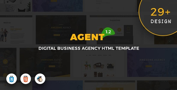 Agent - Digital Business Agency Template - Business Corporate