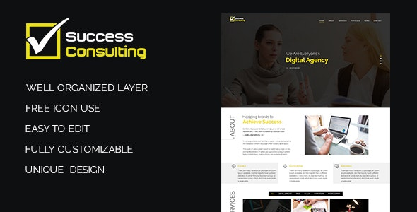 Success Consulting PSD Template - Photoshop UI Templates