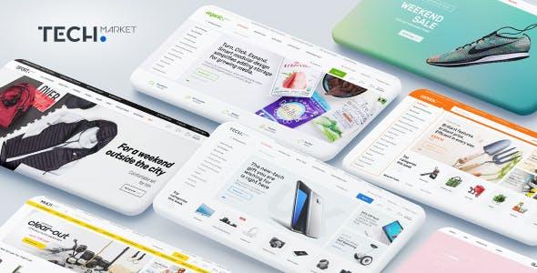 Techmarket - Multi-demo & Electronics Store HTML Template