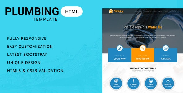 Plumber - Company HTML Template - Site Templates