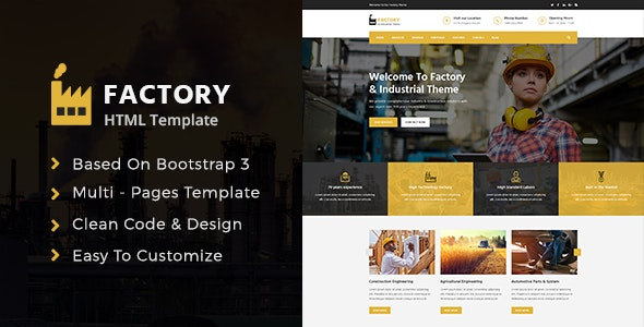 Factory & Industrial Template - Corporate Site Templates