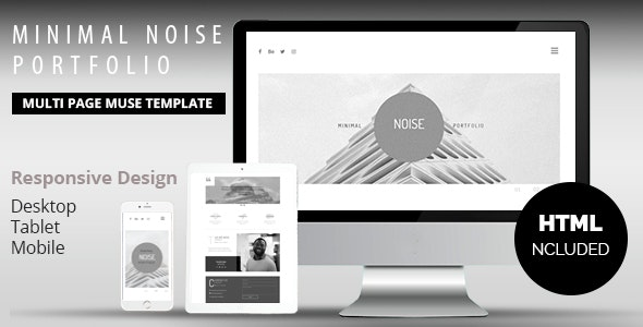 Minimal Noise Portfolio Muse Template - Creative Muse Templates