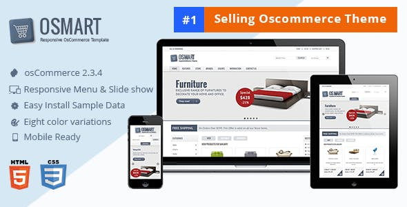OSMART – Responsive osCommerce template