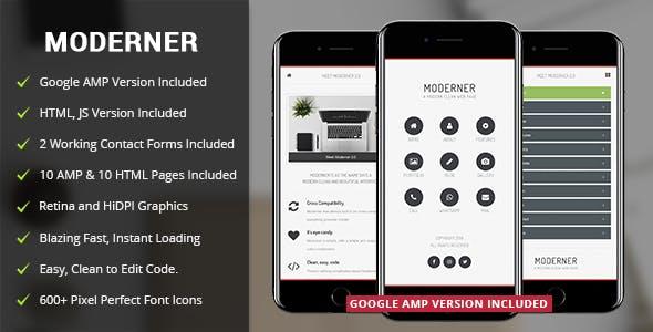 Moderner Mobile Template & Google AMP